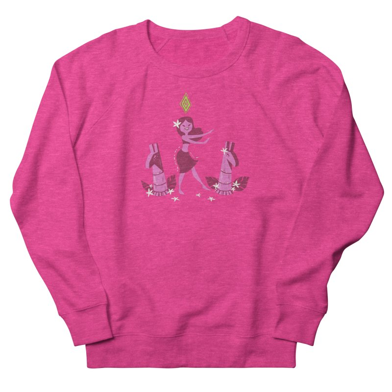Sim-hula Pink Women's French Terry Sweatshirt by The Sims Official Threadless Store