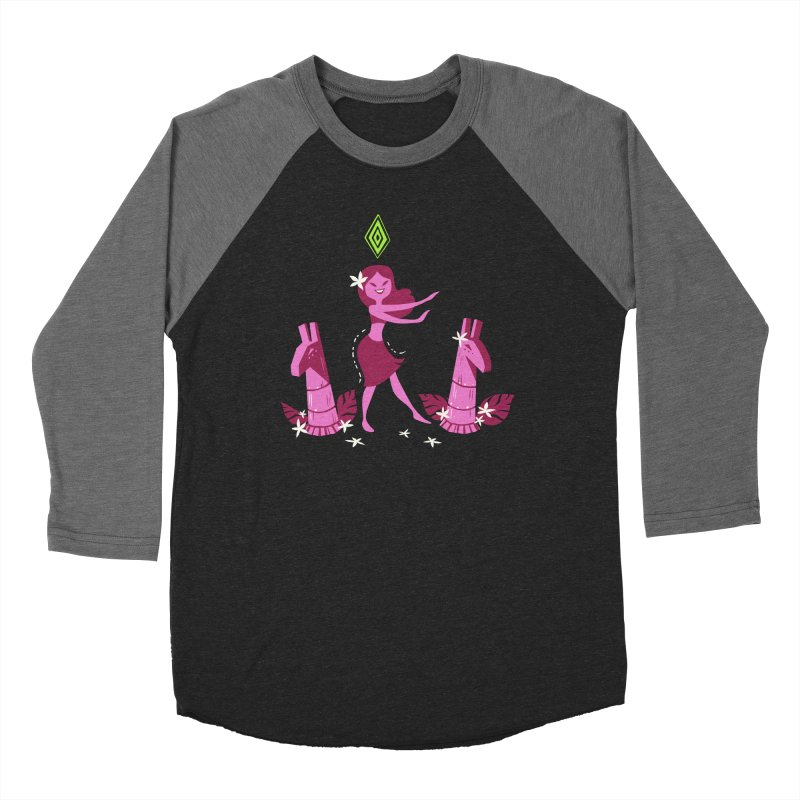 Sim-hula Pink Women's Baseball Triblend Longsleeve T-Shirt by The Sims Official Threadless Store