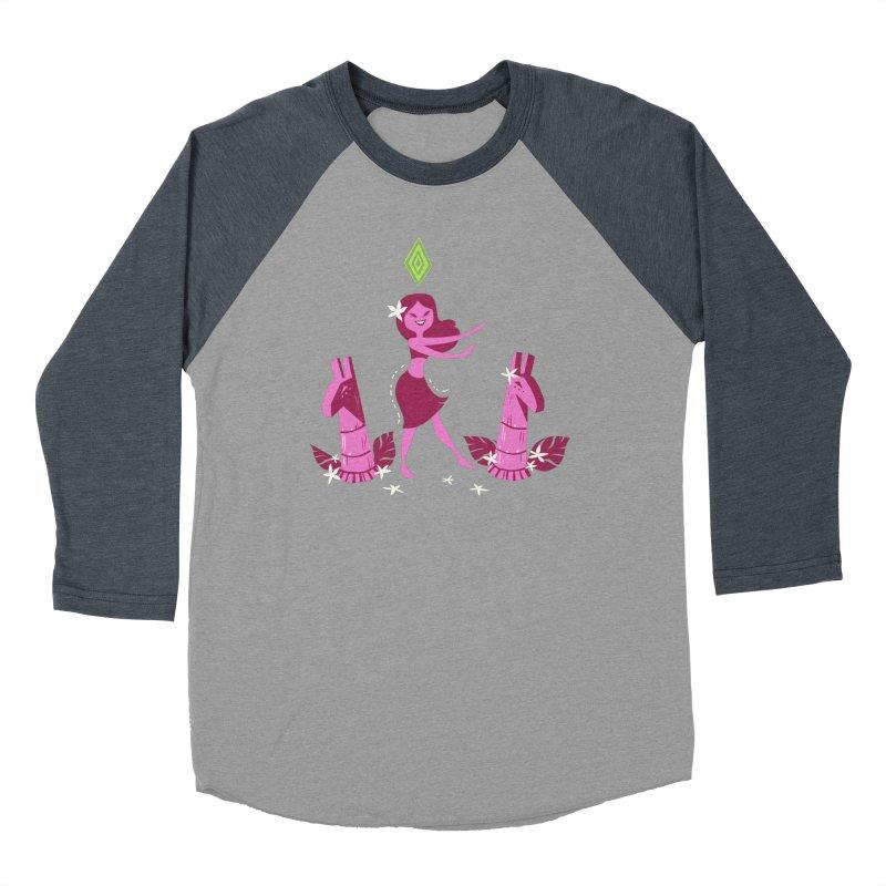 Sim-hula Pink Women's Baseball Triblend Longsleeve T-Shirt by The Sims Official Threadless Store