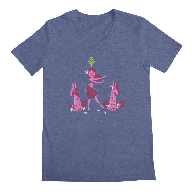 Sim-hula Pink Men's Regular V-Neck by The Sims Official Threadless Store