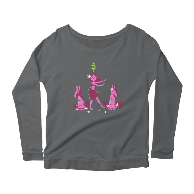 Sim-hula Pink Women's Longsleeve Scoopneck  by The Sims Official Threadless Store