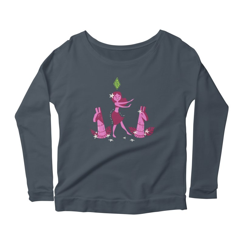 Sim-hula Pink Women's Scoop Neck Longsleeve T-Shirt by The Sims Official Threadless Store
