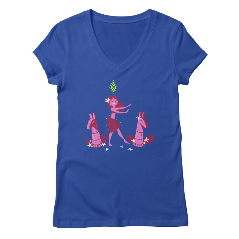 Sim-hula Pink Women's Regular V-Neck by The Sims Official Threadless Store
