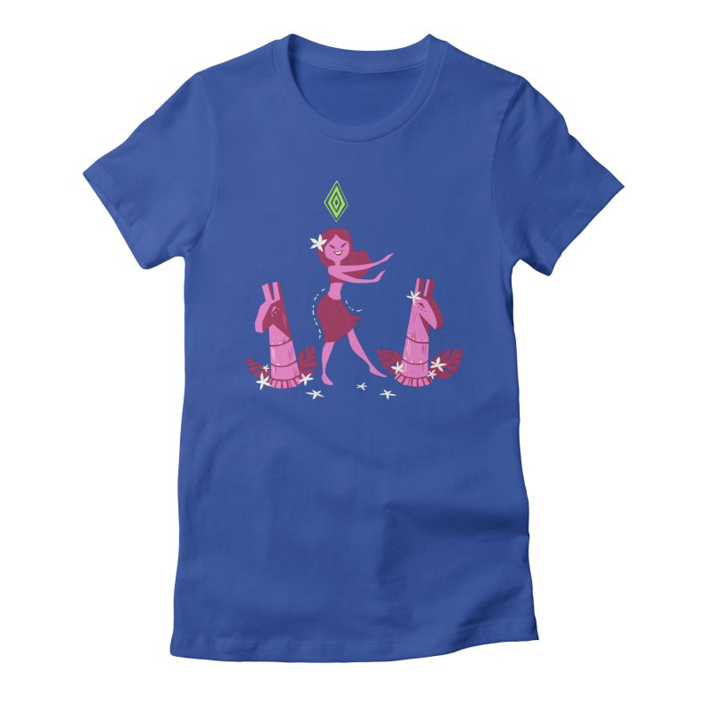 Sim-hula Pink Women's Fitted T-Shirt by The Sims Official Threadless Store