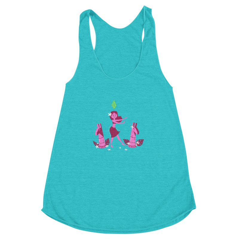 Sim-hula Pink Women's Racerback Triblend Tank by The Sims Official Threadless Store