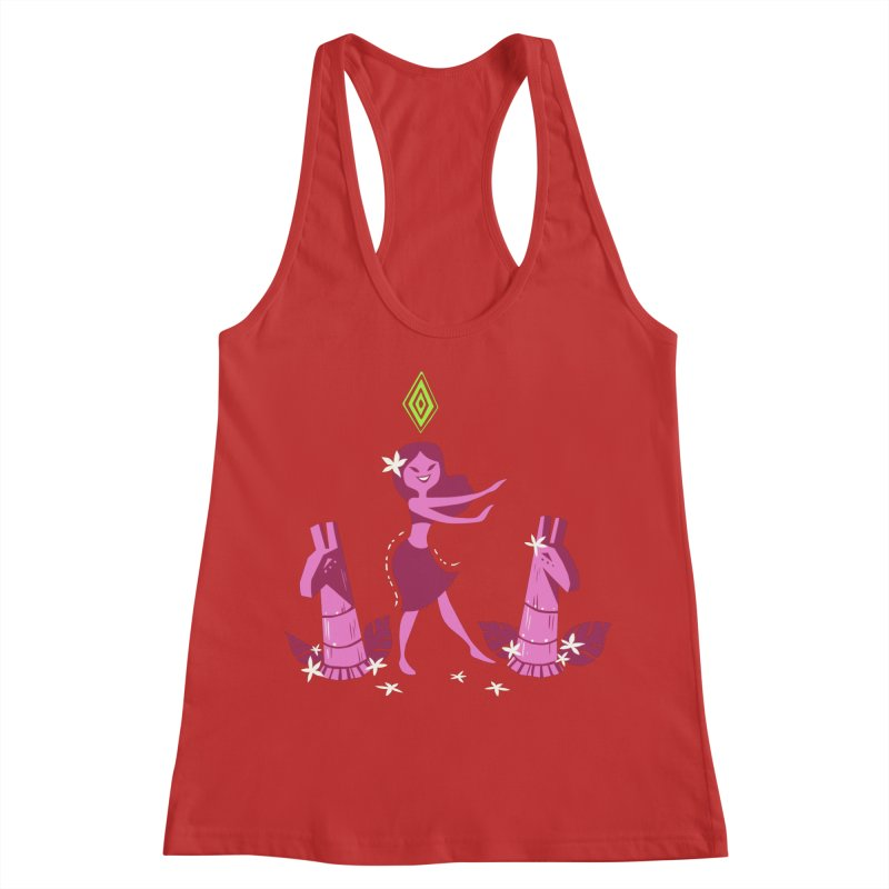 Sim-hula Pink Women's Tank by The Sims Official Threadless Store