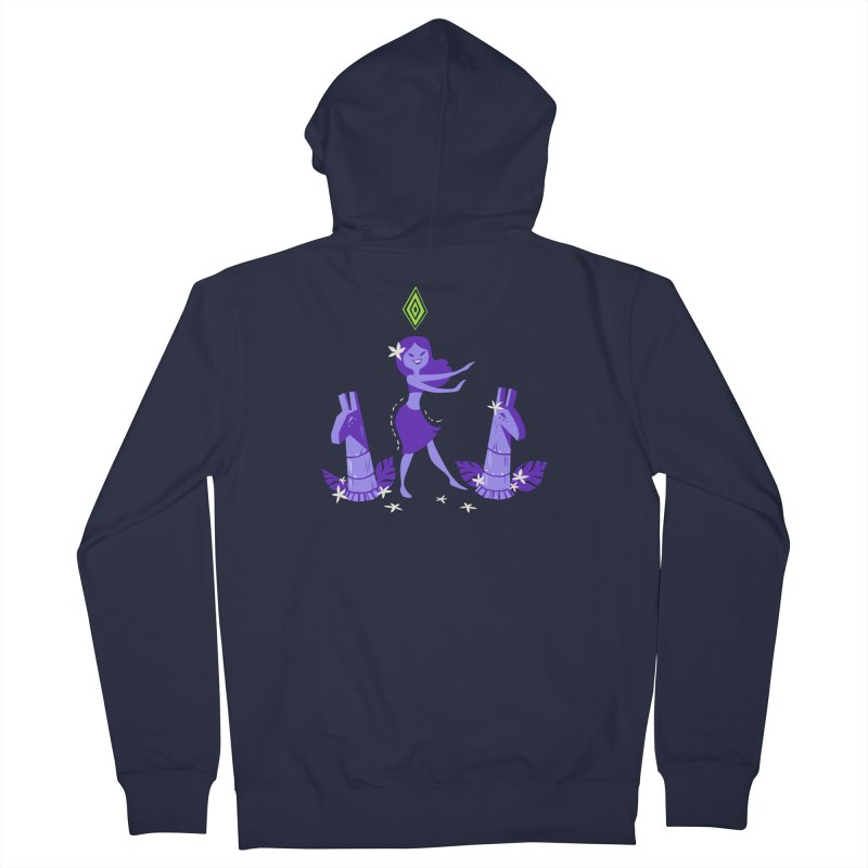 Sim-hula Purple Men's French Terry Zip-Up Hoody by The Sims Official Threadless Store