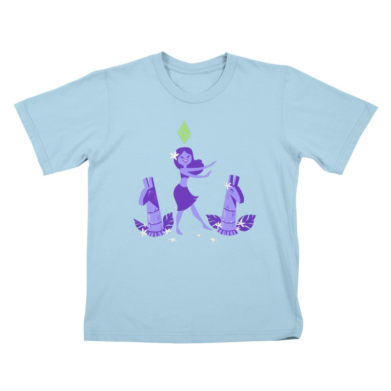 Sim-hula Purple Kids T-Shirt by The Sims Official Threadless Store