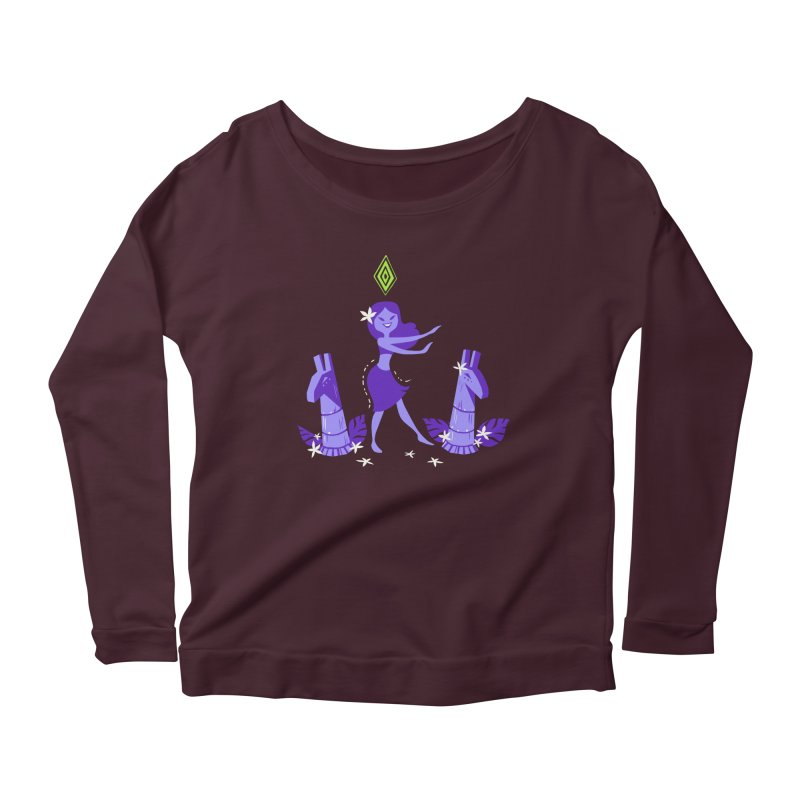Sim-hula Purple Women's Scoop Neck Longsleeve T-Shirt by The Sims Official Threadless Store