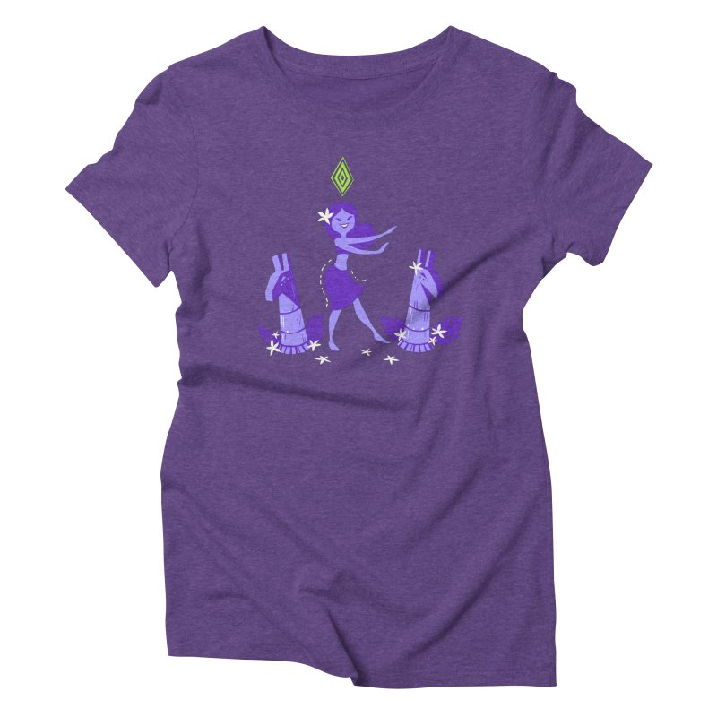 Sim-hula Purple in Women's Triblend T-Shirt Tri-Purple by The Sims Official Threadless Store