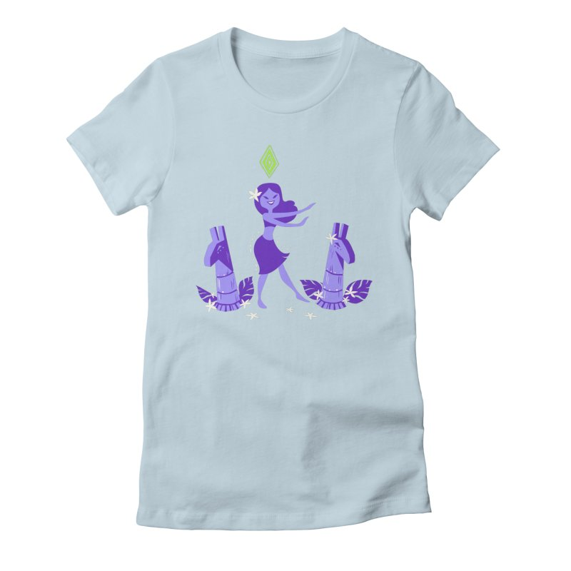 Sim-hula Purple Women's Fitted T-Shirt by The Sims Official Threadless Store