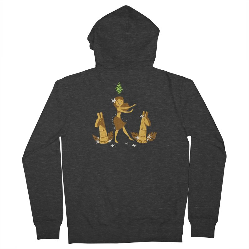 Sim-hula Yellow Men's French Terry Zip-Up Hoody by The Sims Official Threadless Store