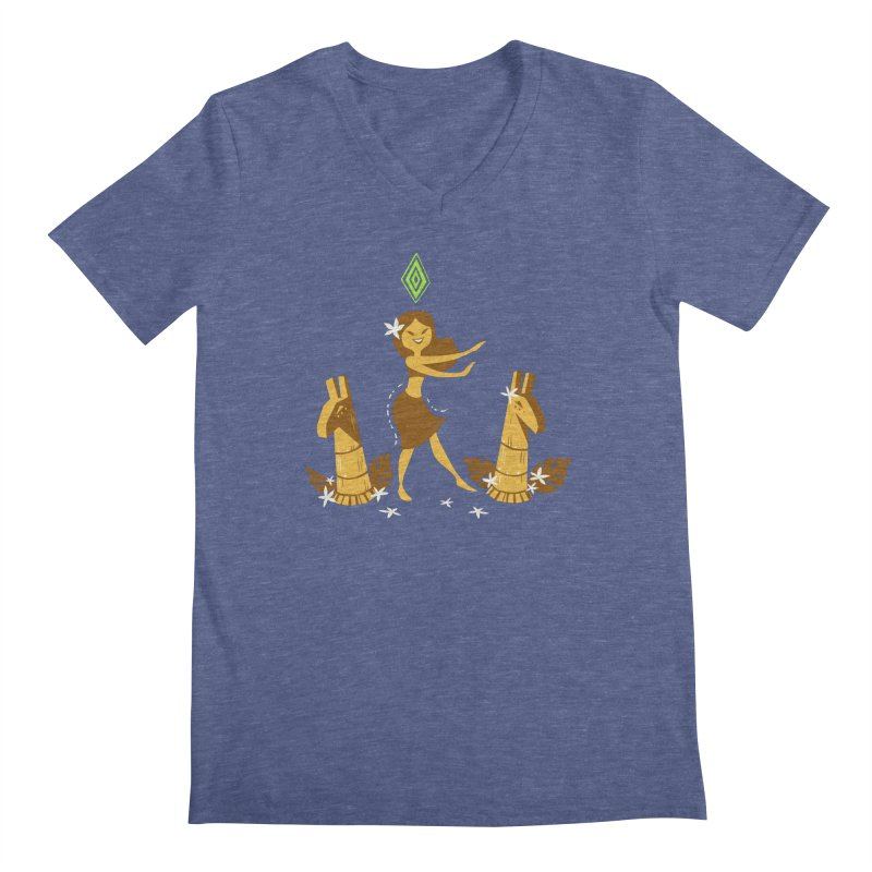Sim-hula Yellow Men's Regular V-Neck by The Sims Official Threadless Store