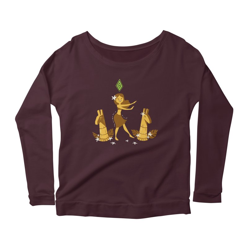 Sim-hula Yellow Women's Scoop Neck Longsleeve T-Shirt by The Sims Official Threadless Store