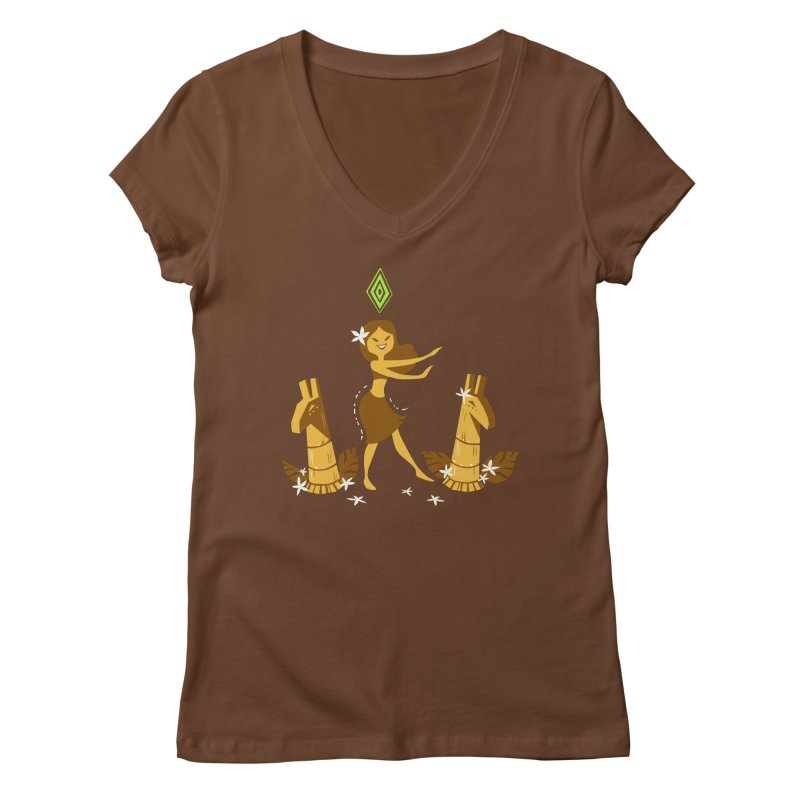 Sim-hula Yellow Women's Regular V-Neck by The Sims Official Threadless Store