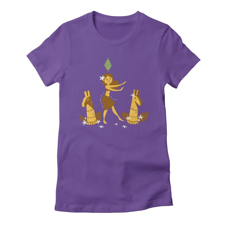 Sim-hula Yellow Women's Fitted T-Shirt by The Sims Official Threadless Store
