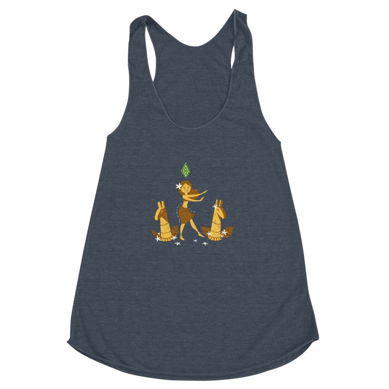 Sim-hula Yellow Women's Racerback Triblend Tank by The Sims Official Threadless Store