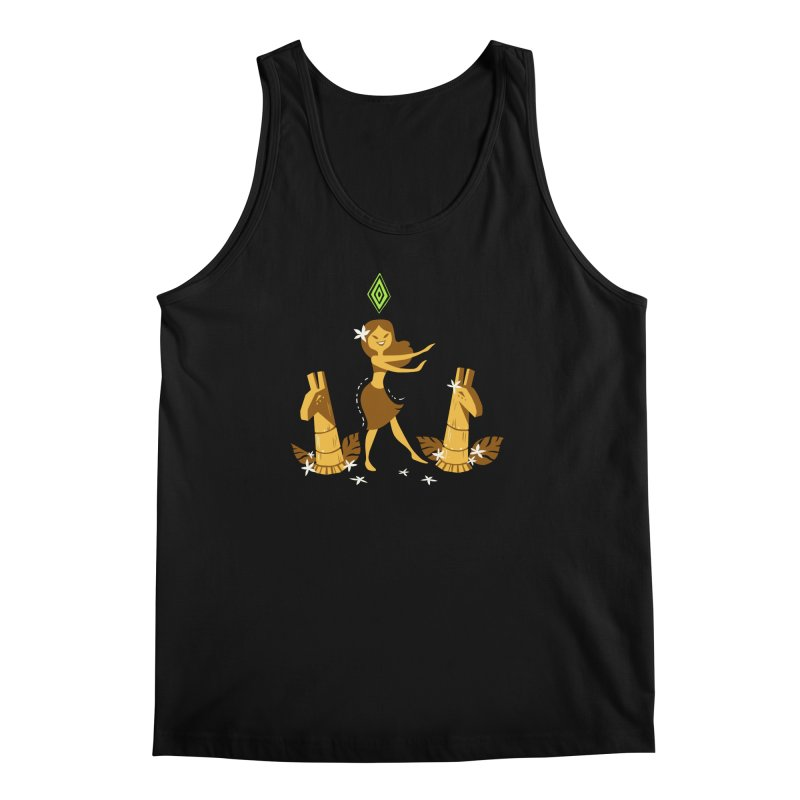 Sim-hula Yellow Men's Regular Tank by The Sims Official Threadless Store