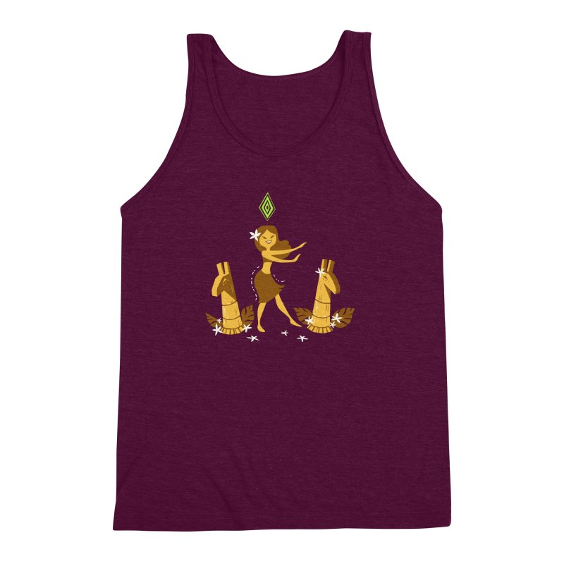 Sim-hula Yellow Men's Triblend Tank by The Sims Official Threadless Store