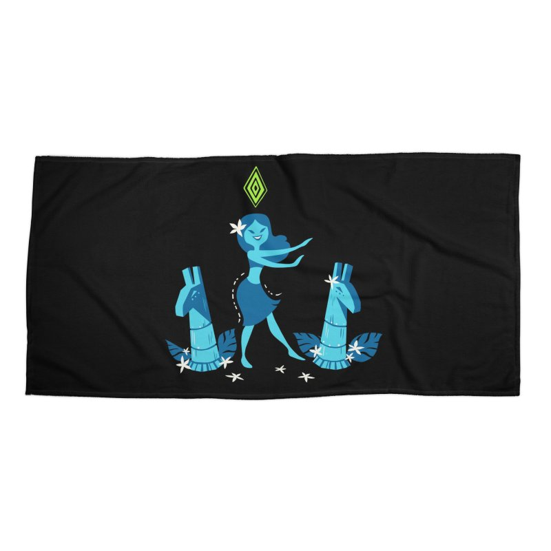 Sim-hula Blue Accessories Beach Towel by The Sims Official Threadless Store