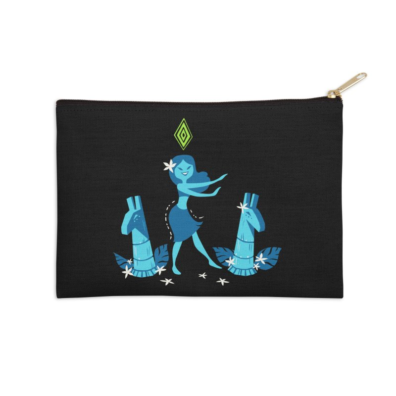 Sim-hula Blue Accessories Zip Pouch by The Sims Official Threadless Store