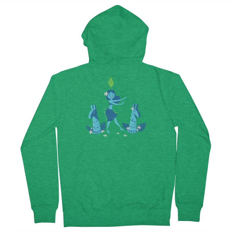 Sim-hula Blue Men's French Terry Zip-Up Hoody by The Sims Official Threadless Store