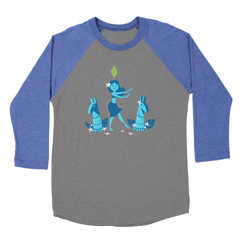 Sim-hula Blue Men's Baseball Triblend Longsleeve T-Shirt by The Sims Official Threadless Store