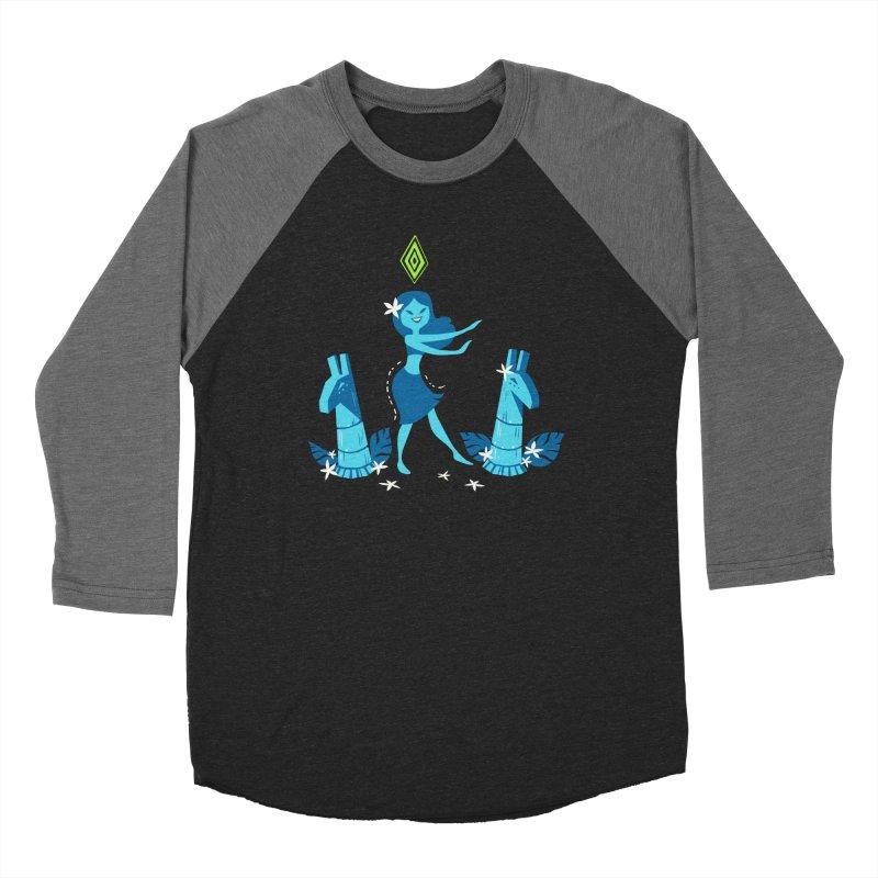 Sim-hula Blue Men's Baseball Triblend Longsleeve T-Shirt by The Sims Official Threadless Store