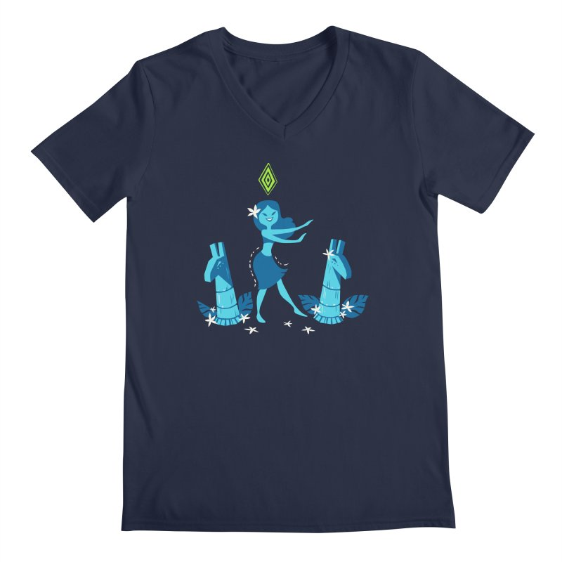 Sim-hula Blue Men's Regular V-Neck by The Sims Official Threadless Store
