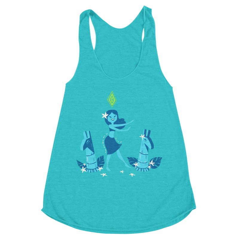 Sim-hula Blue Women's Racerback Triblend Tank by The Sims Official Threadless Store