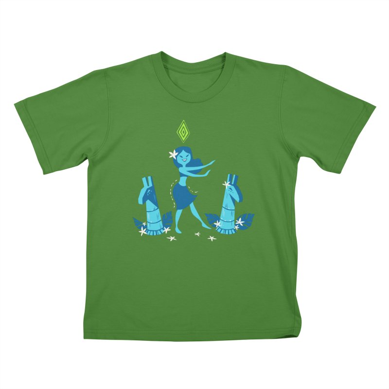 Sim-hula Blue Kids T-Shirt by The Sims Official Threadless Store