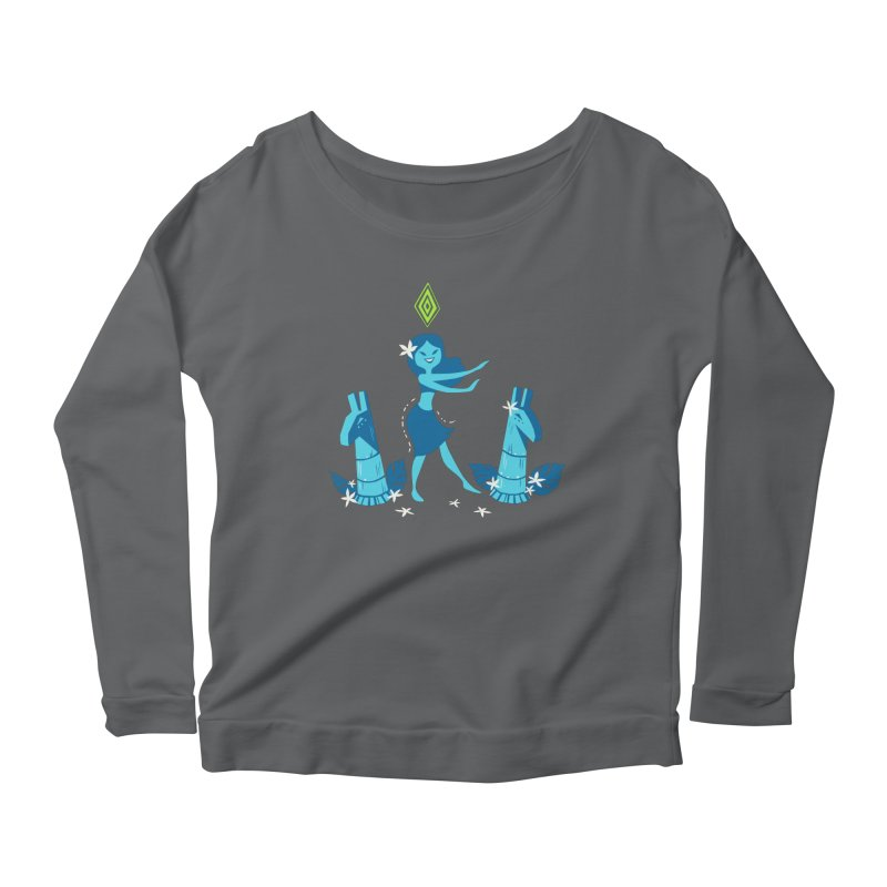 Sim-hula Blue Women's Longsleeve Scoopneck  by The Sims Official Threadless Store