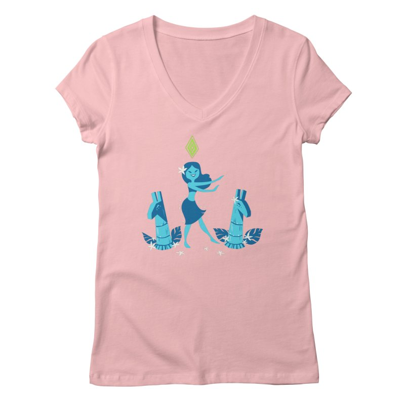 Sim-hula Blue Women's Regular V-Neck by The Sims Official Threadless Store