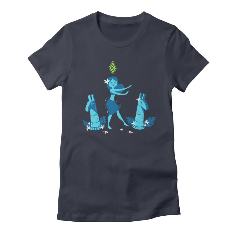Sim-hula Blue Women's Fitted T-Shirt by The Sims Official Threadless Store