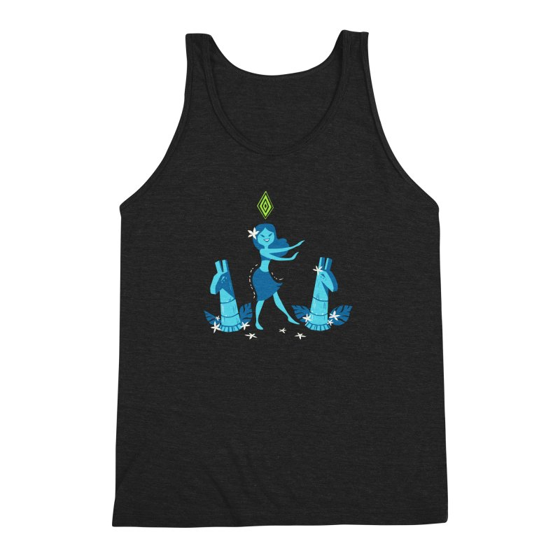 Sim-hula Blue Men's Triblend Tank by The Sims Official Threadless Store