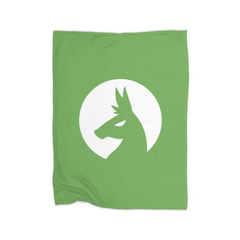Hero Llama Logo Home Fleece Blanket Blanket by The Sims Official Threadless Store