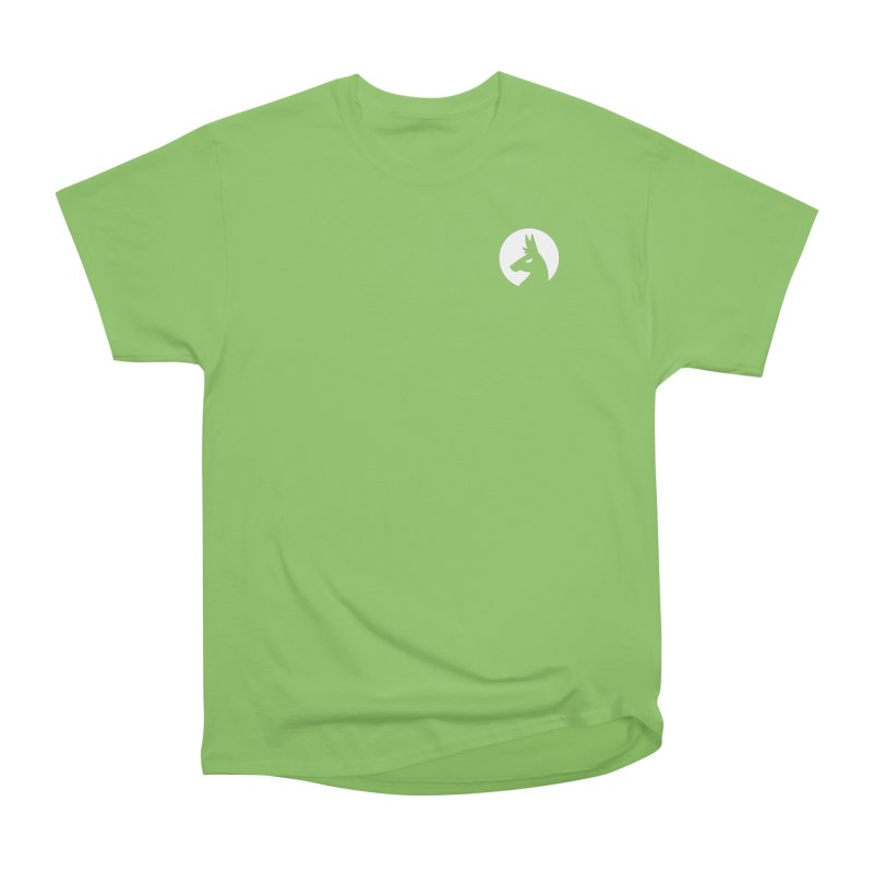 Hero Llama Logo in Men's Heavyweight T-Shirt Kiwi by The Sims Official Threadless Store