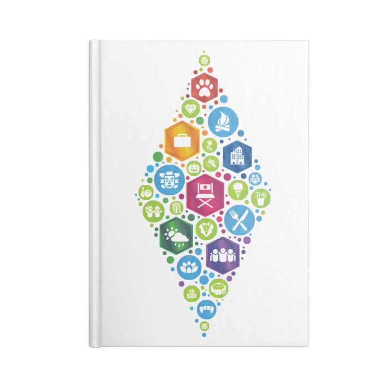 The Sims 19th Anniversary Pack Plumbob Accessories Lined Journal Notebook by The Sims Official Threadless Store