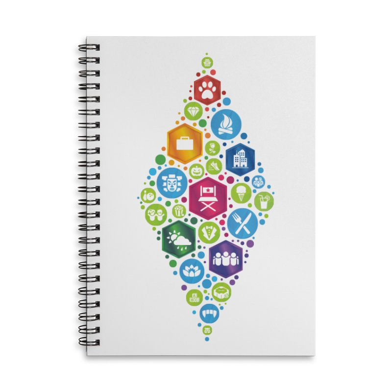 The Sims 19th Anniversary Pack Plumbob Accessories Lined Spiral Notebook by The Sims Official Threadless Store