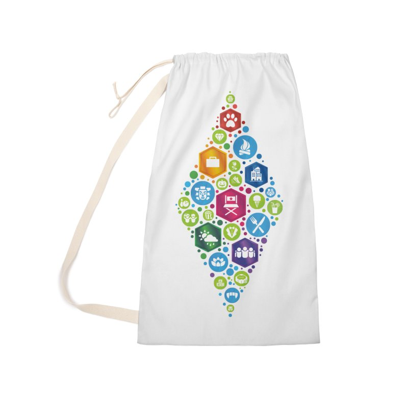 The Sims 19th Anniversary Pack Plumbob Accessories Laundry Bag Bag by The Sims Official Threadless Store