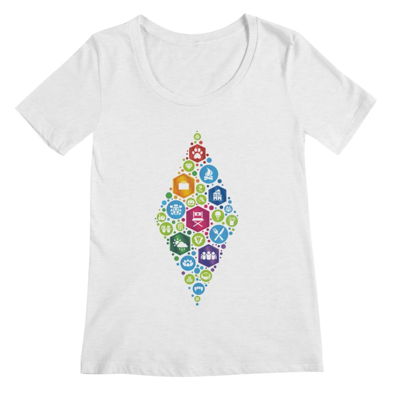The Sims 19th Anniversary Pack Plumbob Women's Regular Scoop Neck by The Sims Official Threadless Store