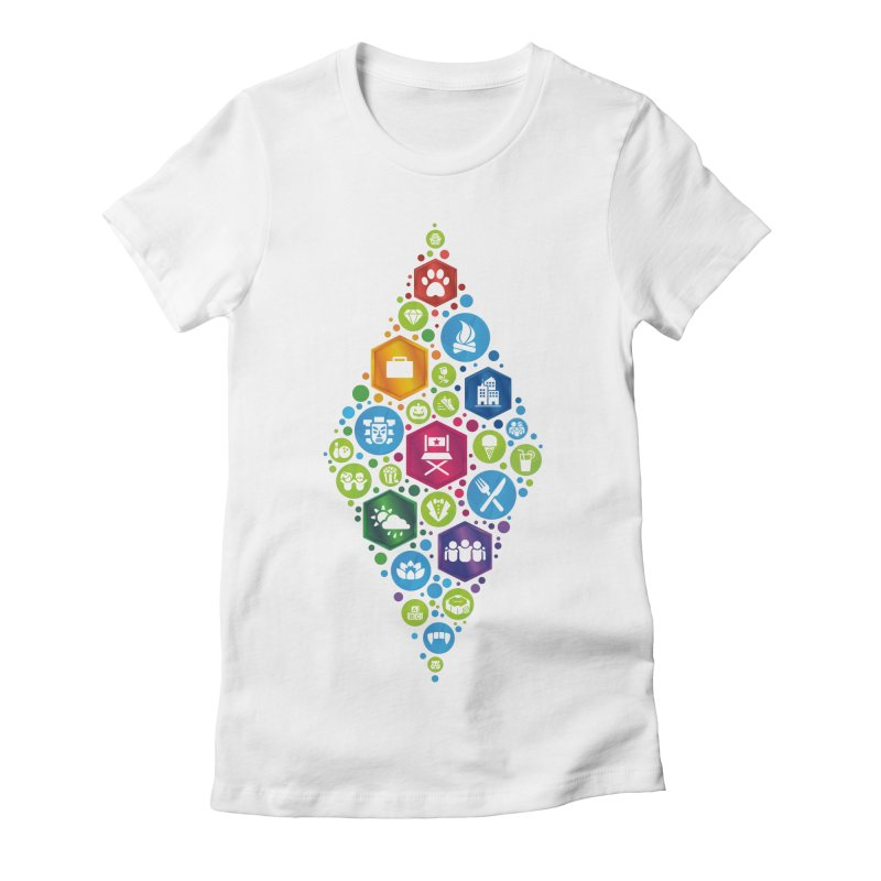 The Sims 19th Anniversary Pack Plumbob Women's Fitted T-Shirt by The Sims Official Threadless Store