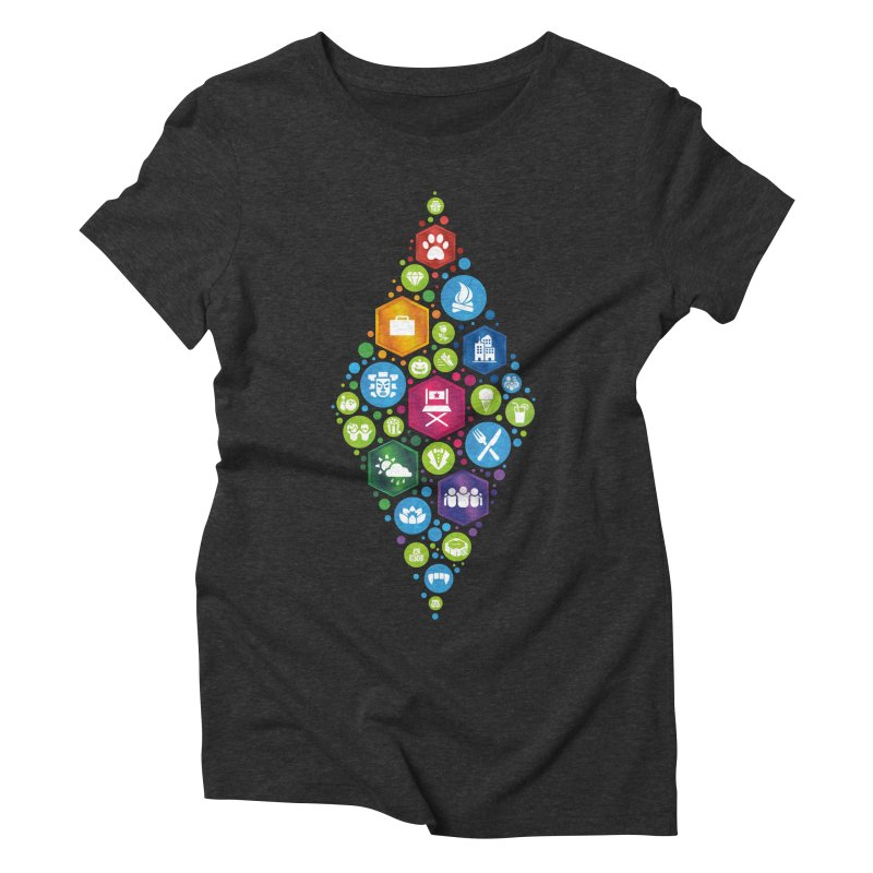 The Sims 19th Anniversary Pack Plumbob Women's Triblend T-Shirt by The Sims Official Threadless Store