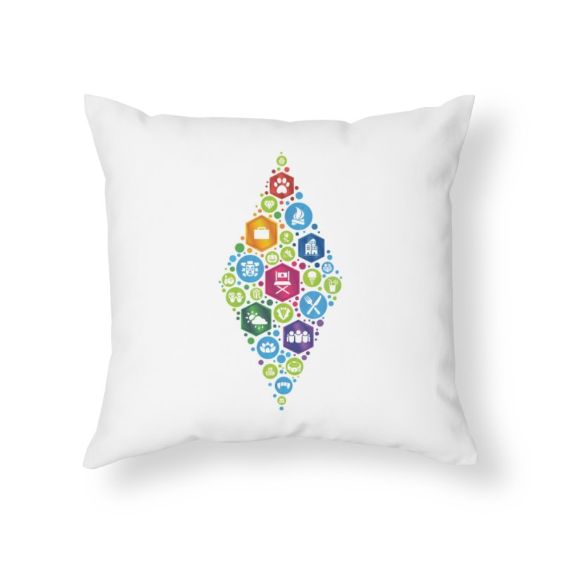 The Sims 19th Anniversary Pack Plumbob Home Throw Pillow by The Sims Official Threadless Store
