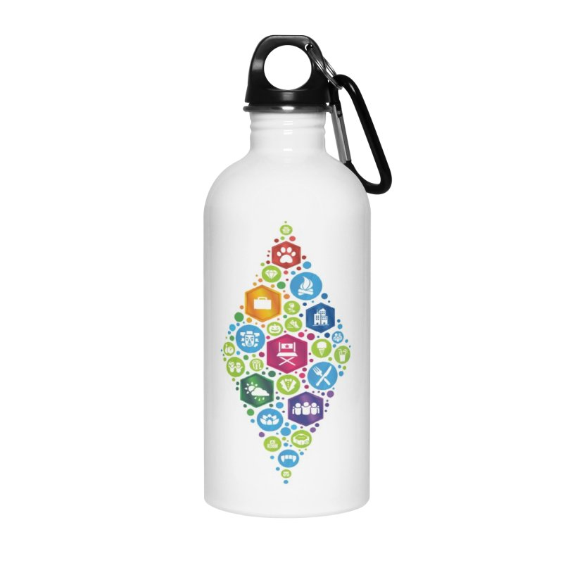 The Sims 19th Anniversary Pack Plumbob Accessories Water Bottle by The Sims Official Threadless Store