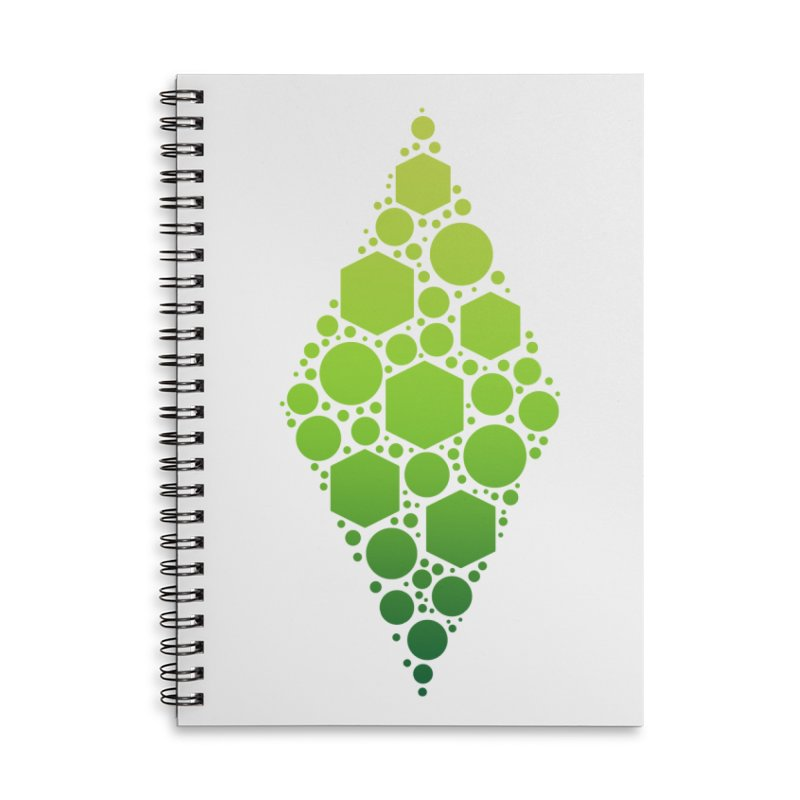 The Sims 19th Anniversary Plumbob Accessories Lined Spiral Notebook by The Sims Official Threadless Store