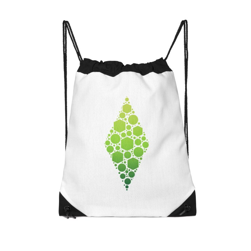 The Sims 19th Anniversary Plumbob Accessories Drawstring Bag Bag by The Sims Official Threadless Store