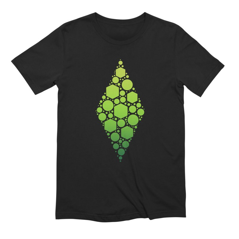 The Sims 19th Anniversary Plumbob in Men's Extra Soft T-Shirt Black by The Sims Official Threadless Store