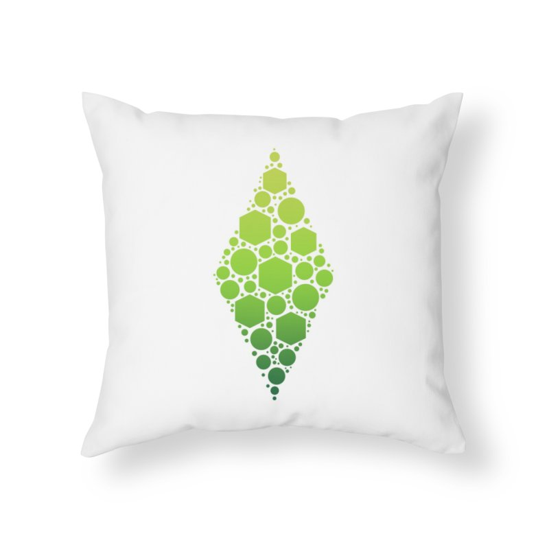 The Sims 19th Anniversary Plumbob Home Throw Pillow by The Sims Official Threadless Store