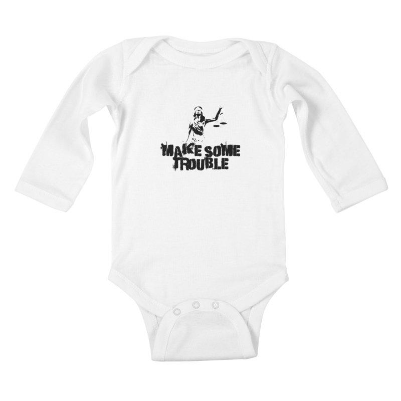 Make Some Trouble Kids Baby Longsleeve Bodysuit by The Slants